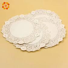 5.5'' <b>Inch 50PCS</b>/<b>Lot</b> Eco-Friendly Grease-Proof White Paper Doilies ...