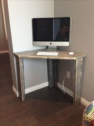 rustic corner desk office guest room