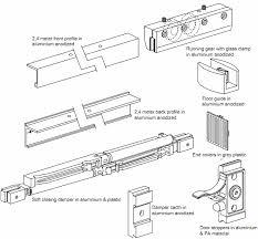 aluminium sliding door kits