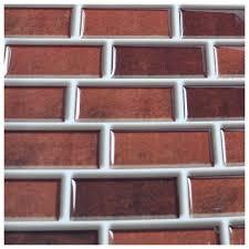 Vinyl Kitchen Backsplash 6 Pack Peel And Stick Brick Backsplash Tiles Kitchen Smart Tiles