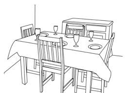 dining room table clipart black and white. Dining Room Table Clipart Black And White Depthfirstsolutions