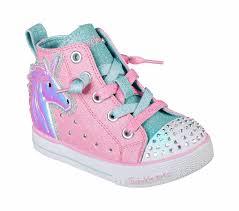 Skechers Light Up Unicorn Shoes Skechers Shuffle Lite Unicorn Minis