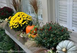 Decorating Window Boxes For Fall Fall Outdoor Decorating Window Boxes Hoosier Homemade 1