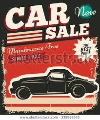 Car For Sale Flyer Cool Vintage Retro Stile Sale Car Vector Stock Vector Royalty Free