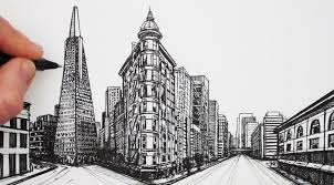 perspective drawings of buildings. How To Draw In 2-Point Perspective: San Francisco Buildings Perspective Drawings Of