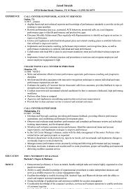 sample resume supervisor position call center supervisor resume samples velvet jobs