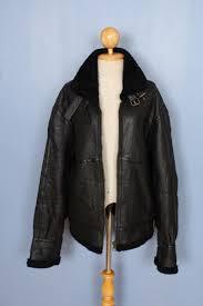 womens b 3 b3 100 sheepskin shearling black er real leather jacket