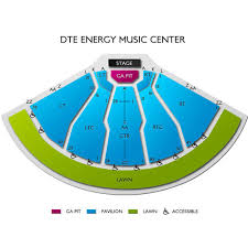 Dte Energy Seating Chart Clarkston Dte Energy Music Theatre 2019 Seating Chart