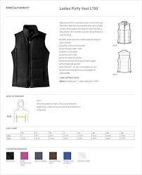 Port Authority Color Chart Port Authority Ladies Puffy Vest
