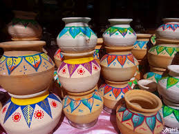 Pot Decoration Designs Potters draw colourful designs on clay pots for 'Pongal' GNS News 69