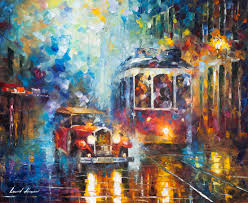 afremov original oil painting palette knife impressionist impressionism surreal surrealism city painting art purchase painting