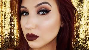 4 dramatic cat eye and dark lips