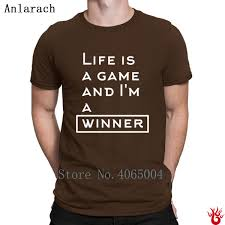 Game Winner Pants Size Chart Life Is A Game Jacket Tshirts Crew Neck Fit Family T Shirt For Men Spring Autumn Pop Top Tee Funny Tee Shirt Cotton Unique T Shirt Awesome Shirt