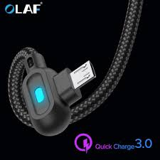 <b>OLAF</b> 90 Degree Micro USB Type C Cable Fast Charging Type C ...