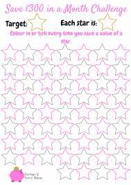 Printable Savings Goal Chart Save 300 A Month Challenge