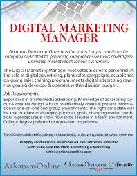 digital marketing manager job in little rock ar arkansas related searches
