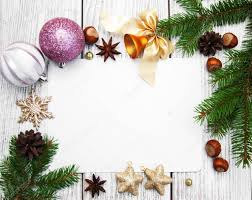 Blank Christmas Background Christmas Background Blank Paper With Decoration Stock Photo