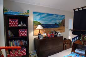 back wall childrens pirate bedroom themed interior 2