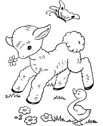 Small Picture Printable easter coloring page of lambs Grootfeestinfo