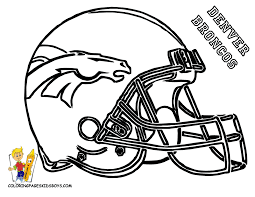 Broncos Coloring Page Should Have The Nieces Color These Then