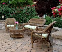 wicker patio furniture. Delighful Patio Beautiful 6piece Sanibel Wicker Patio Furniture Set Inside Wicker Patio Furniture 1