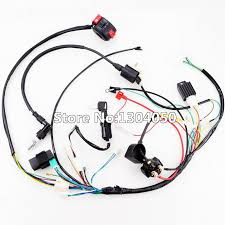 full electrics wiring harness cdi ignition coil spark plug 50cc full electrics wiring harness cdi ignition coil spark plug 50cc 70cc 110cc 125cc atv quad bike