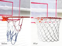this is a simple pattern that you could use to make your own diy basketball hoop all you need is a round plastic ring or how about a circle towel rack for