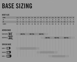 Size Chart Snowboard Brands The Mountain Garage