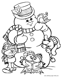 Small Picture Coloring Page Free Printable Snowman Coloring Pages Coloring