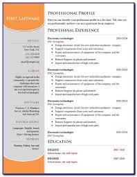 Simple Resume Templates Free Download For Microsoft Word Templates 1