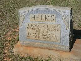 Eliza Ellen Helms (Baucom) (1852 - 1933) - Genealogy