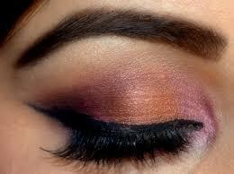 cranberry and copper smokey eye makeup