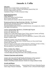 Examples Of Resumes Resume For Work Write A With No Experience