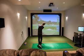 best home golf simulator. Home Theater Room With PARADIGM Speakers JVC 4K Projector And Golf Inside Simulator Design 14 Best