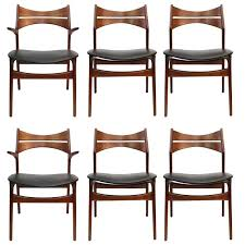 leather and chrome dining chairs lovely mid century danish modern erik buch dining chair set of