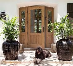front door. Abundant Brown Color Wood Front Door