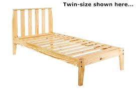 Twin To King Bed Frame Simple Twin Bed Frame Blueprints Twin Mission ...