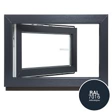 Kunststofffenster Kellerfenster Fenster Anthrazit Ral7016 23 Fach