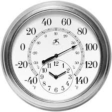 indoor outdoor clock thermometer combo designs with 19