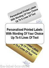 silver address label personalised address labels silver ebay