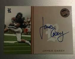 James Casey Rice Football Press Pass Autograph Rookie Card NFL   eBay