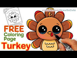 cute thanksgiving turkey drawing. How To Draw Cute Turkey Step By Easy Thanksgiving On Drawing YouTube