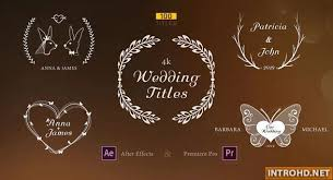Wedding Title Videohive Wedding Titles 23506580 Free After Effects