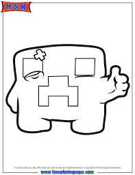 Minecraft Creeper Coloring Pages Get Coloring Pages