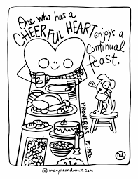 Small Picture Cheerful heart continual feast FREE Thanksgiving coloring page