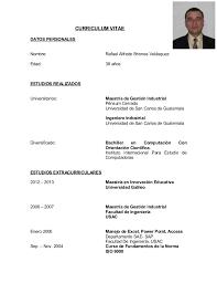 Curriculum Vitae Mesmerizing Cv R Briones