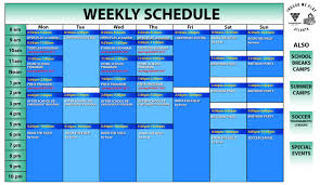 Summer Camp Weekly Schedule Calendar Atlanta Contact Point