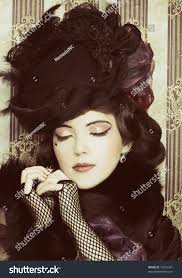 Pretty Woman Hair Style vintage ladyyoung pretty woman black hat stock photo 73616347 4105 by wearticles.com