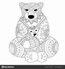 Disegni Da Copiare Belli In Bianco E Nero Orso Polare Madre Che