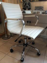 eames style office chairs. Exellent Office Eames Style Warm White Faux Leather Office Chair Mulberry Moon Inside Decor  4 Intended Chairs